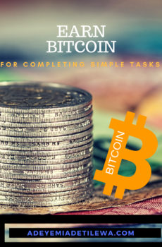 Earn Bitcoin for completing simple tasks
